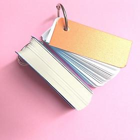 10 xấp flashcard trắng 3x8 cm học tiếng anh - Flashcard Phan Liên
