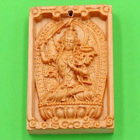 Mặt gỗ hoàng đàn phật bản mệnh Văn Thù Bồ Tát MGPBM3 - Phật bản mệnh tuổi Mão