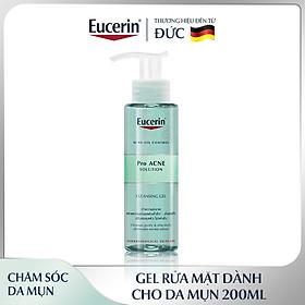 Combo làm sạch gồm Gel Rửa Mặt Cho Da Mụn Eucerin Pro Acne Cleansing Gel 200ml và Tẩy Tế Bào Chết Ngăn Ngừa Mụn Eucerin Pro Acne Scrub 100ml