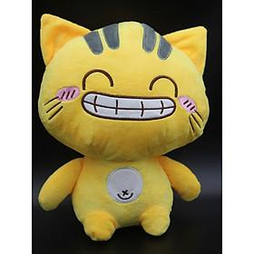 Gấu bông/ Thú Nhồi Bông Mèo Meng mặt cười 28 cm (Tặng kèm móc khóa da bò thật màu ngẫu nhiên) BA0171