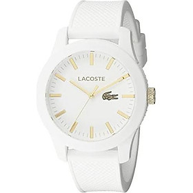Lacoste Men's 2010819 Lacoste.12.12 Analog Display Quartz White Watch