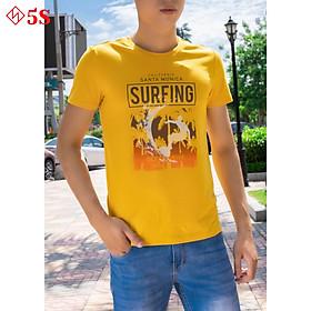 Áo Thun Nam 5S Cổ Tròn In Chữ (SURFING) Lướt Ván Trẻ trung, thoáng mát, thấm hút mồ hôi