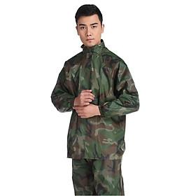Bộ Quần Áo Đi Mưa Vải Dù Hình Áo Lính Siêu Bền Loại 1 Chống Thấm Nước Tuyệt Đối