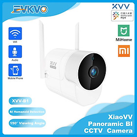 Xiaovv - Ống kính góc rộng 180 độ - MiHome APP HD 1080P Outdoor Waterproof Wireless Bullet IP Camera CCTV WIFI Home Security Surveillance CCTV Camera Infrared Night vision Two-Way Audio Motion Detection Alarm