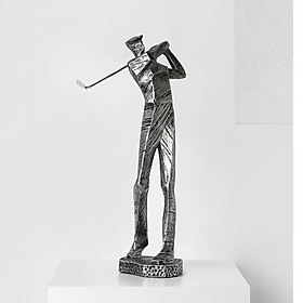 Tượng người chơi golf decor trang trí phòng khách (Giao mẫu ngẫu nhiên)
