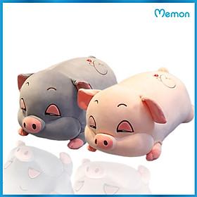 Gấu bông Heo ngủ mắt híp cao cấp - Hàng chính hãng Memon - Đồ chơi thú nhồi bông Heo mắt ngủ đờ đẫn, Bông PP 3D tinh khiết, đàn hồi đa chiều, sản phẩm bền đẹp, an toàn cho người sử dụng
