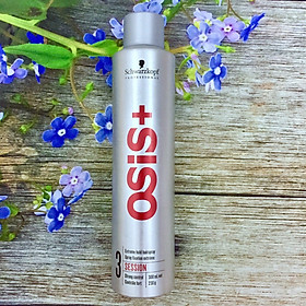 Gôm xịt tóc giữ nếp cứng Schwarzkopf OSiS + 3 Session Extreme Hold Hairspray 300ml
