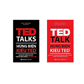 """Bộ Sách Hay Nhất Về Hùng Biện ( Hùng biện kiểu TED1: Bí quyết diễn thuyết trước đám đông """"chuẩn"""" TED + Hùng biện kiểu TED2: Bí quyết làm nên những bài diễn thuyết hứng khởi nhất thế giới ) (Tặng Notebook tự thiết kế)"""