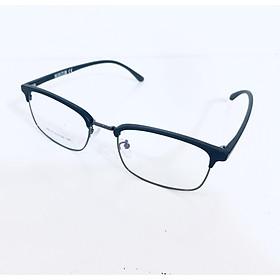 Gọng kính nửa gọng dáng vuông cao cấp , hiện đại, trẻ trung- 88016- C20- đen