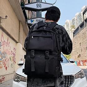 Balo đi học ĐEN CÁ TÍNH - Cặp đựng sách, Laptop cỡ lớn nhiều ngăn siêu tiện lợi - đeo vai phong cách Hàn Quốc