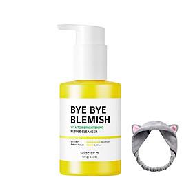 Gel Rửa Mặt Sủi Bọt Làm Sạch Sâu & Dưỡng Trắng Da Some By Mi Bye Bye Blemish Vita Tox Brightening Bubble Cleanser 120g+ Tặng Kèm 1 Băng Đô Tai Mèo (Màu Ngẫu Nhiên)