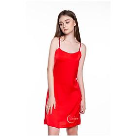 Dreamy-VS04-Váy ngủ lụa cao cấp, váy ngủ nữ, váy ngủ 2 dây, váy ngủ gợi cảm, váy ngủ sexy, đầm ngủ lụa mặc nhà 2 dây trơn có 3 màu đen, đỏ tươi và hồng