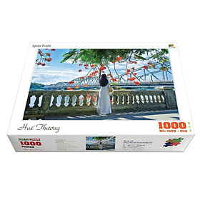 Bộ tranh xếp hình jigsaw puzzle cao cấp 1000 mảnh ghép – Huế Thương