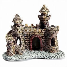 Mô hình lâu đài vàng trang trí bể cá phụ kiện thiết bị bể cá