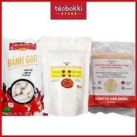[Chỉ Giao HCM] - (CHỈ GIAO TPHCM) Combo nấu tokbokki - Combo bánh gạo kèm sốt và chả cá Tèobokki