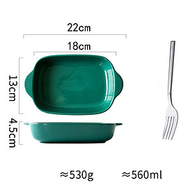 Nordic INS Double-eared Oven Bowl Cheese Baking Dish Microwave Oven Special Baking Dish Ceramic Plate