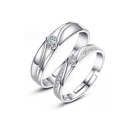 Nhẫn cặp nhẫn đôi tình yêu đính đá