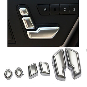 Chrome Door Seat Adjust Buttons Switch For Mercedes-Benz E Class W212 218 CLS