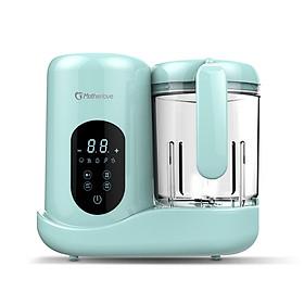Máy xay hấp nghiền thức ăn, hâm sữa cho bé đa năng 7in1 tặng kèm máy xay đa nang nhỏ (xanh)