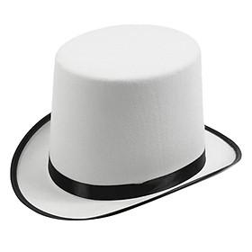 White Magician Top Hat Party Caps Men Womens Fancy Dress Costume Accessory