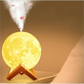 Máy phun sương tinh dầu mặt trăng 3D tích hợp đèn ngủ thông minh