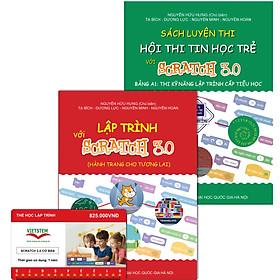 Combo khóa học lập trình Scratch 3.0 Cơ bản kèm sách lập trình với Scratch 3.0 và sách Luyện thi tin học trẻ cấp Tiểu học