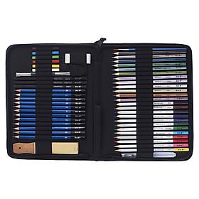 Bộ Bút Chì Gỗ H&B Có Túi Đựng (51 Cái)