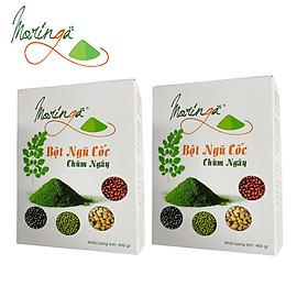 Combo 2 Hộp Ngũ Cốc Chùm Ngây Moringa - Thực phẩm cung cấp dinh dưỡng cho mọi đối tượng, bổ sung caxi và đạm thực vật, tiện lợi cho bữa sáng và chắc bụng cho bữa tối giúp ngủ ngon