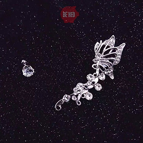 Bông tai kẹp vành có xỏ tai cánh bướm - Trang sức Bé Heo BHBT457