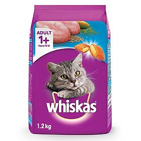 Đồ Ăn Cho Mèo Lớn Whiskas Vị Cá Biển Túi 1.2 Kg