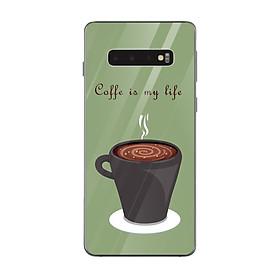 Ốp lưng dành cho điện thoại Samsung Galaxy S in họa tiết Coffee is my life