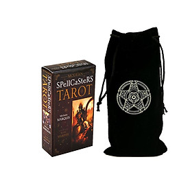 Combo Bộ Bài Bói Tarot Modern Spellcaster's Tarot New Cao Cấp và Túi Nhung Đựng Tarot