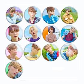 Huy hiệu in hình Seventeen nhóm nhạc idol dễ thương huy hiệu cài áo (MẪU GIAO NGẪU NHIÊN)