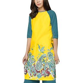 Áo Dài Vicky Boutique AD541 - Vàng