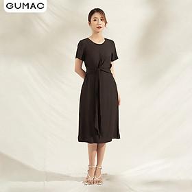 Đầm nữ cao cấp thiết kế suông thắt eo DA1101 GUMAC