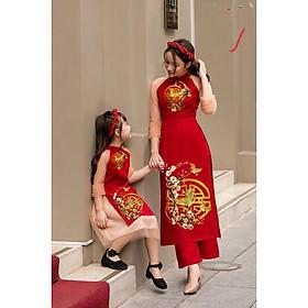 Set bộ áo dài cách tân cho mẹ hoặc bé GD20811
