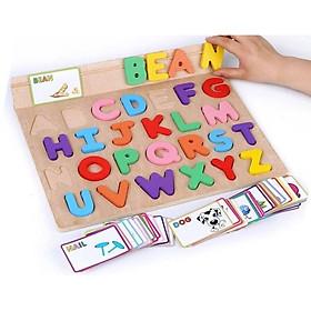 Bảng chữ cái tiếng Anh kèm 100 thẻ học tiếng Anh cho bé
