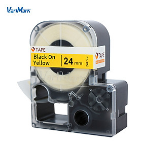 VariMark Cable Wire Wrap Label Self-Adhesive Vinyl Label Tape Replacement Label Maker Tape Black on Yellow 0.94
