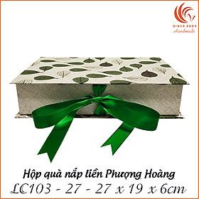 Hộp quà nắp liền chữ nhật LC103 - 27 x 19 x 6 cm
