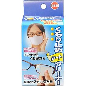 Khăn lau kính chống mờ hơi nước hộp 30 miếng Ichinen Nhật Bản