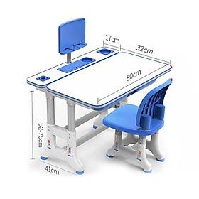 Bàn học sinh trẻ em  bộ bàn ghế size 80cm có đèn, chống gù, chống cận, điều chỉnh độ cao cho bé RIBO138
