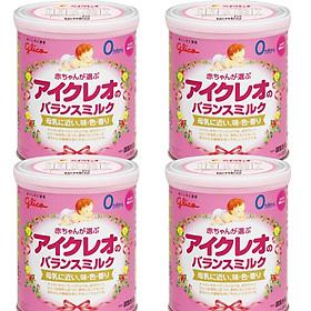 Combo 4 hộp Sữa Glico Icreo Số 0 (320g) và đồ chơi tắm Toys House