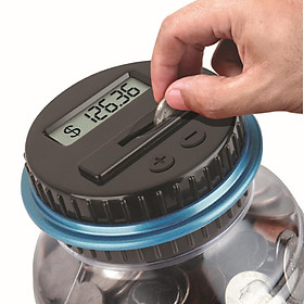 Siaonvr Clear Digital Piggy Bank Coin Savings Counter LCD Counting Money Jar Change Gift