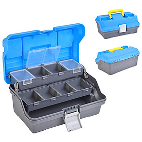 3 Layer Fishing Tackle Box with Removable Dividers Fishing Storage Case Fishing Bait Box