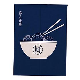 Japanese Noren Doorway Curtain Hanging Room Divider for Kitchen Kitchen_85x90cm