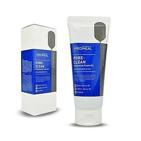 Sữa rửa mặt than hoạt tính làm sạch sâu lỗ chân lông Mediheal Pore Clean Charcoal Cleansing Foam - with Charcoal Mineral Mẫu mới - 170ml