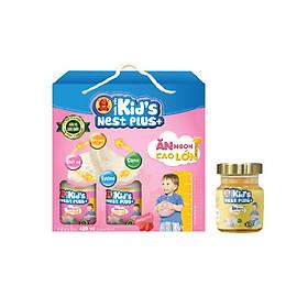 Lốc Nước Yến Kid's Nest Plus+ Hương Dâu (6 lọ x 70ml) Tặng 1 Lọ Yến Kid's Nest Plus+