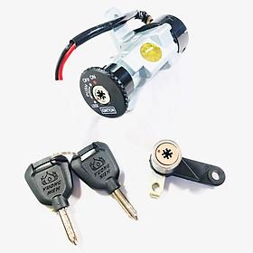 Ổ khoá từ 8 cạnh cho xe Sirius kèm khóa yên chống trộm an toàn