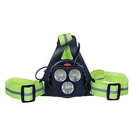 Portable USB Recharging Running Light Chest Light Outdoor Mountaineering Night Running Warning Light Running Safety