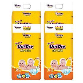 Combo 4 Tã Dán UniDry Super Gói Đại S46 (46 Miếng)